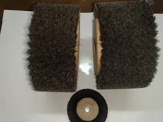 Щетка для воска деревянная с конским ворсом 10см. Италия, фото 2