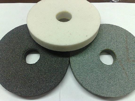 Круги абразивный (камень) 14А 125*20 вн. 32мм. малый белый, фото 2