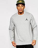 Стильный мужской свитшот Jordan серый
