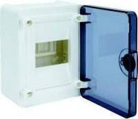 Щит распределительный наружный GOLF VS104TD на 4 модуля, прозрачная дверца