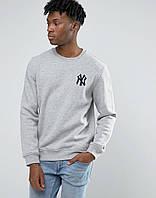 Стильный мужской свитшот New York серый
