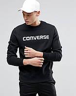 Стильный мужской свитшот converse черный
