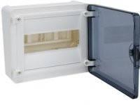 Щит распределительный наружный GOLF VS108TD на 8 модуля, прозрачная дверца