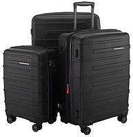 4-колесный набор чемоданов для путешествий 126 л., 82 л., 37 л. HAUPTSTADTKOFFER ostkreuz set black черный