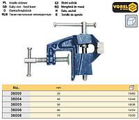 Лещата настільні неповоротні 25 мм VOREL-36000