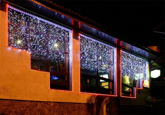 Гирлянда-штора Curtain Light, 600 светодиодов