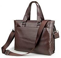 Кожаная оригинальная сумка для ноутбука оричневая 7328C, фото 1