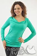 Кофта для беременных и кормления с хомутом (изумруд)