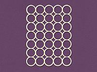 Чипборд от ScrapBox — Карточка Project Life Круги, 100x75 мм, 1 шт