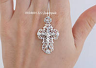 Серебряный крестик с камнями арт.400030