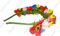 Ободок декорированный цветами Украинка