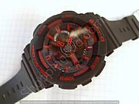 Детские часы Casio BabyG BA-111 5338 (114290) черные с красным водонепроницаемые календарь подсветка