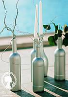 Бутылки декоративные цветные