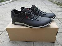 Мужские туфли Columbia черные натуральная кожа