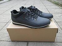 Мужские туфли Columbia темно-синие натуральная кожа