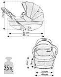 Коляска 2 в 1 универсальная Bexa Ideal сумка дождевик москитная сетка, фото 8