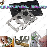 "Мультитул - ""Survival Card"" + чехол для хранения!"