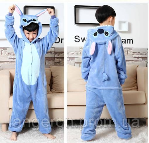 Кигуруми Стич детская пижама kigurumi костюм Stich 140  продажа ... fb09b19b8e4a7