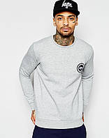 Стильный мужской свитшот Hype серый