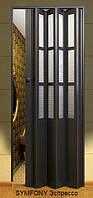 Дверь-гармошка пластиковая SYMFONY (эспрессо) 2,03*0,86 м