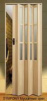 Дверь-гармошка пластиковая SYMFONY (мускатный орех) 2,03*0,86 м