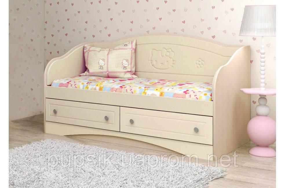 """Кровать-диван детский Вальтер """"Kiddy"""" №2 ваниль 70*140"""