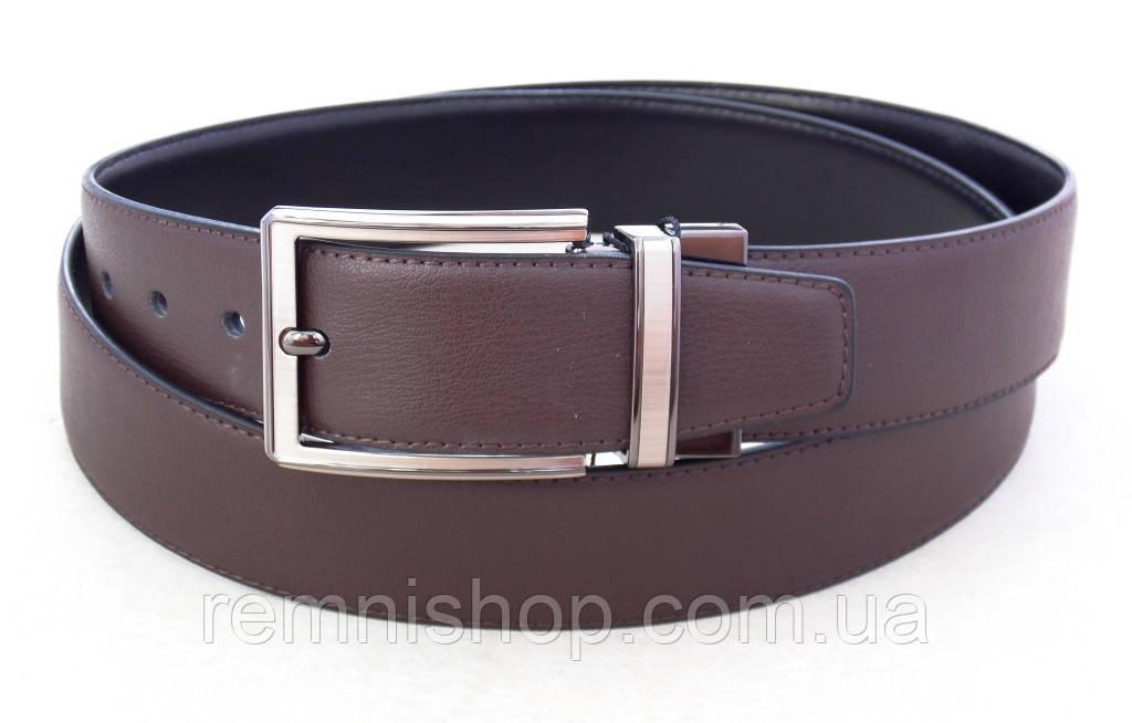 Двухсторонний кожаный ремень Alon черный / коричневый