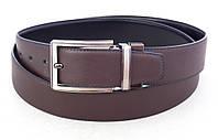 Двухсторонний кожаный ремень Alon черный / коричневый, фото 1