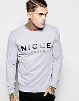 Стильный мужской свитшот Nicce London серый