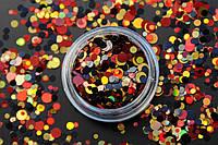 Камифубики (кружочки) конфетти для дизайна ногтей, KS-03