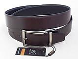 Двухсторонний кожаный ремень Alon (коричневый, черный), фото 4