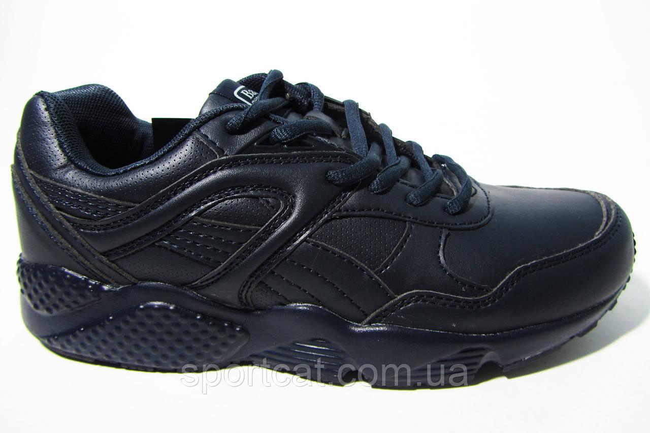 Женские, подростковые кроссовки BaaS, кожа, черные