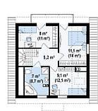 Стоимость строительства коробки Дома в Харькове. Проект Дома № 5,1, фото 3