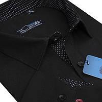 """Стильная мужская рубашка """"Castello black"""" , фото 1"""