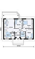 Строительство Дома из пеноблока по проекту № 5,2