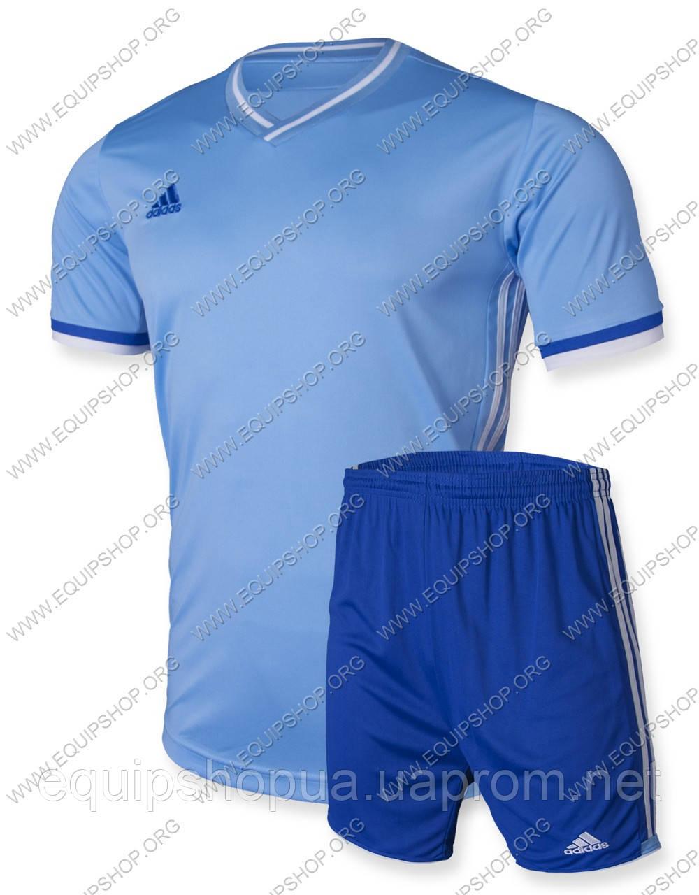 Футбольная форма Adidas Condivo16 голубо-т.синяя