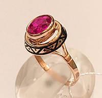Кольцо золотое с рубином золото,583 пробы СССР