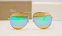 Солнцезащитные очки Dior Split линза сине зеленая