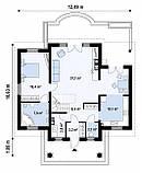 Проект Дома. Одноэтажный Дом на Три спальни в ХАРЬКОВЕ.№ 5,3, фото 2