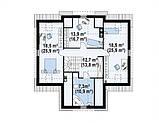 Проект Дома. Одноэтажный Дом на Три спальни в ХАРЬКОВЕ.№ 5,3, фото 3