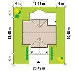 Проект Дома. Одноэтажный Дом на Три спальни в ХАРЬКОВЕ.№ 5,3, фото 8