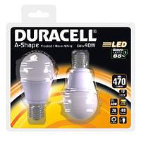 Лампочка 2шт -LED Duracell E27 6 Вт А-470 Германия