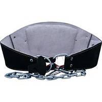 Пояс кожаный с цепями SCHIEK Black Leather Dipping Belt 5008B
