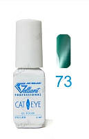 Гель-лак VELENA Cat's eye 73 холодный зеленый