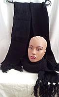 Вязанный шарф черный