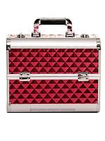 """Бьюти кейс для визажиста с выдвижными полочками """"Diamonds"""", красный"""
