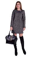 Женское серое шерстяное демисезонное пальто арт. Фортуна 5899
