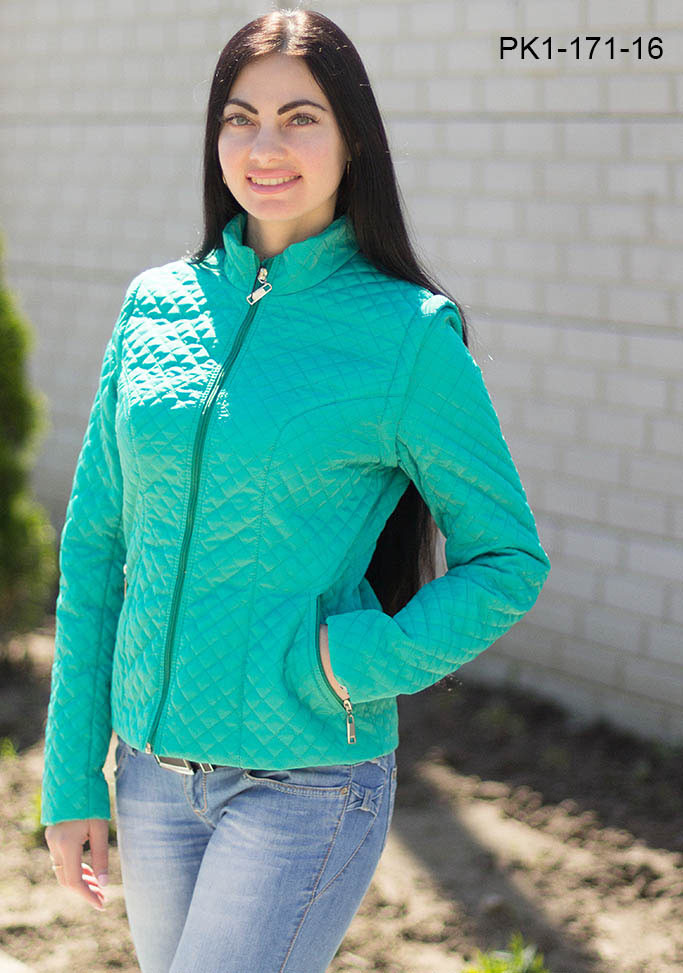 Куртка женская на весну цвет мята размер 44,46