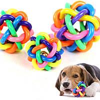 Игрушка для собак из каучука Мяч клубок со звоночком Pet Product