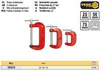 набор струбцин Польша струбцина тип-G 25, 50,75 мм 3 штуки VOREL-38830